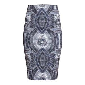 H&M Jewel Printed Pencil Skirt Size 6